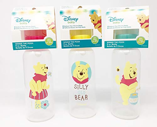 Find Discount Winnie The Pooh Silly Old Bear 9 oz. Baby Bottles & Nipples (1 Set of 3 Bottles)