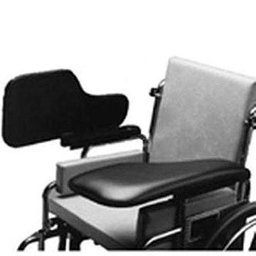 The Aftermarket Group Wheelchair Half Lap Tray, Black Padded Vinyl, Flip-Up Hardware, Left, TAG010023