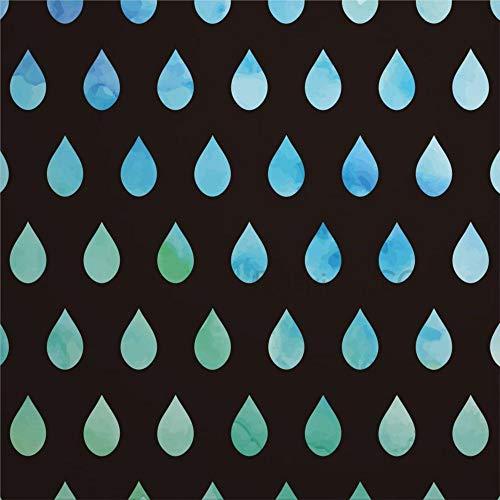 daoyiqi Juego de adhesivos decorativos para azulejos, diseño de gotas de lluvia digitales, 20 x 50,8 cm, vinilo resistente al agua, 12 unidades
