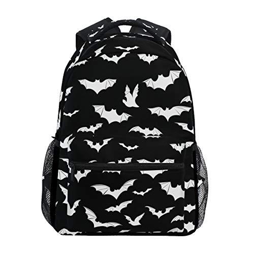 "Stylish Bats Halloween Goth Backpack- Lightweight School College Travel Bags, ChunBB 16"" x 11.5"" x 8"""
