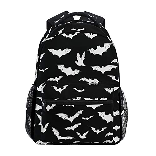 Stylish Bats Halloween Goth Backpack- Lightweight School College Travel Bags, ChunBB 16' x 11.5' x 8'