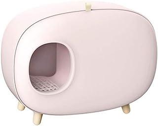 セルフクリーニングごみボックス再利用可能な消臭防滴トイレ用トイレ定休大、猫砂、猫の家,ピンク