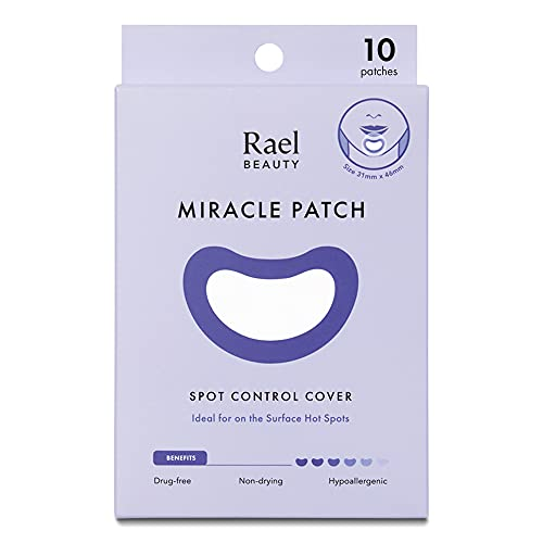 Rael Acne Pimple Healing Patch - Large Spot Control Cover, Long Size, Extra Coverage Acne Patch (10 Count)