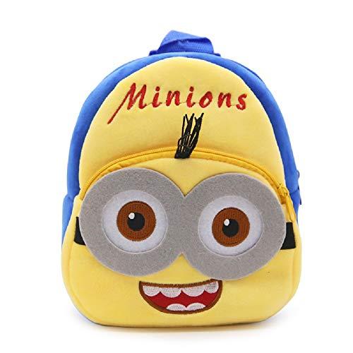 CHDJ Niedlicher Mini-Plüsch-Rucksack für Kleinkinder, für Mädchen und Jungen, Alter 1–3 Jahre, Minions 2 (Blau) - shoulder-handbags