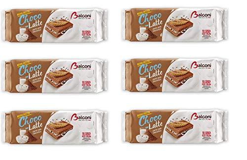 6x Balconi Choco Latte con crema stracciatella Kuchen Snacks mit Stracciatella-Creme (10x30g) 300g