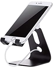 AmazonBasics Adjustable Cell Phone Stand for iPhone and Android | Black