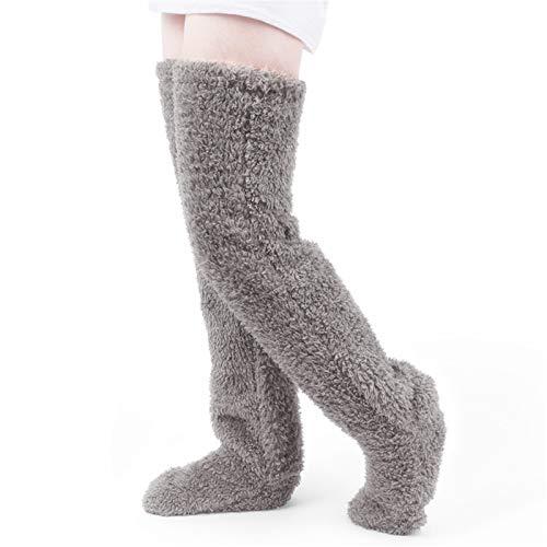 LCPET レッグウォーマー 極暖 足が出せるロングカバー 靴下サプリ もこもこ靴下 まるでこたつ 防寒 冷房対策 暖かい ふかふか肌触り 1足 (グレー)