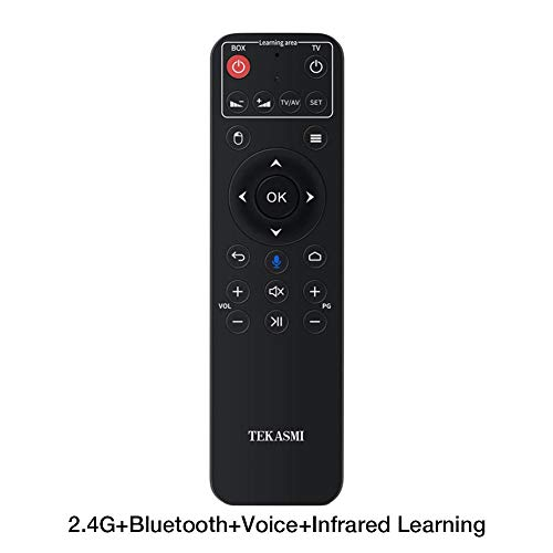 Betfandeful Air Mouse Remote Control - Q5 Bluetooth/2.4GHz WiFi Voice Remote Control Air Mouse with USB Receiver for Smart TV Android Box