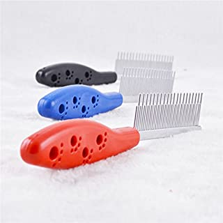 Foodie Puppies Dog Comb with Non Skid Handle - Color May Vary