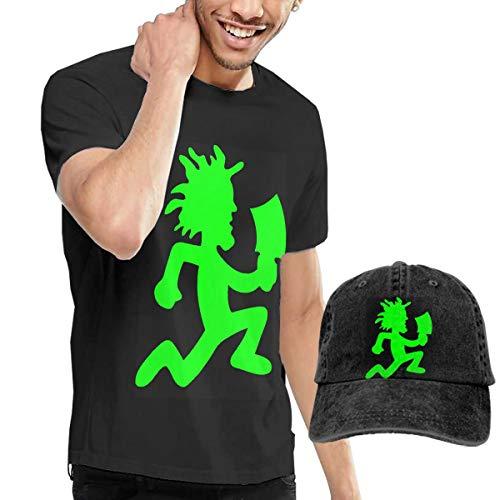 Poguerin Hatchetman ICP Mens T-Shirt + Hat Combo Short-Sleeve Jersey Dad Cap Black
