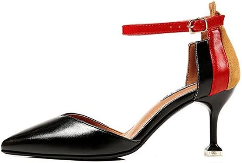 Linson123 Ladies high Heels Pointed high Heels Temperament Commuter Dress shoes
