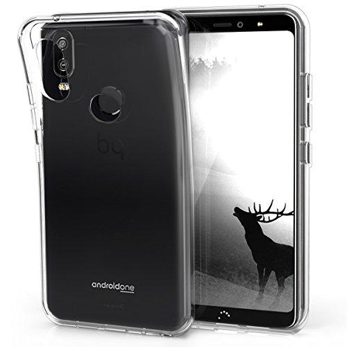 kwmobile bq Aquaris X2 / X2 Pro Hülle - Handyhülle für bq Aquaris X2 / X2 Pro - Handy Case in Transparent