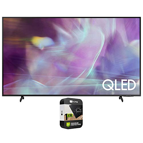 Samsung 43 Inch QLED Smart TV Q60A Series QN43Q60A (2021) Bundle with Premium 1 Year Extended Protection Plan