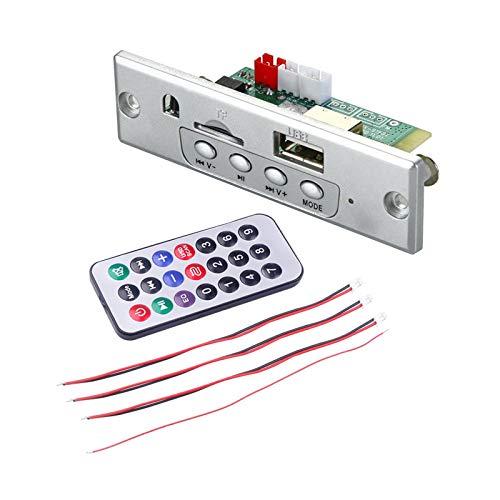 gazechimp Placa Decodificadora de Reproductor MP3 Módulo de Audio con Control Remoto Soporte para Grabación Tarjeta FM TF Amplificador AUX USB