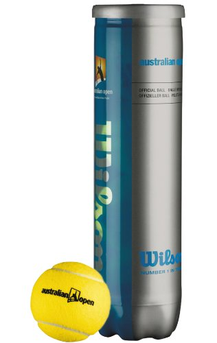 Wilson - Australian Open Tennisball (4er Dose)