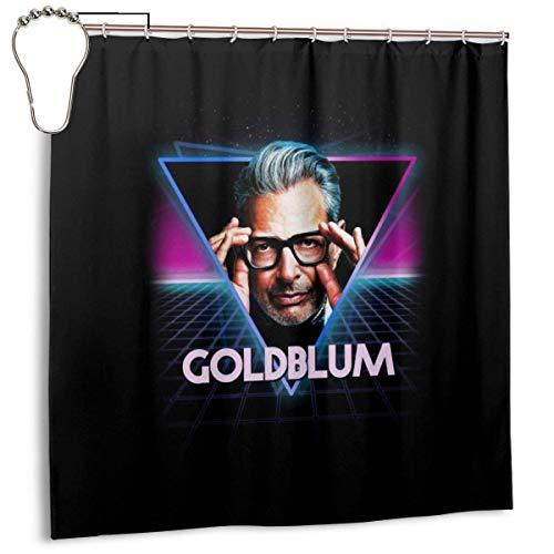 ngquzhe Wasserdichter Duschvorhang aus Polyester Jeff Goldblum Retro 80er Jahre Neon Landscape Print Dekorativer Badvorhang mit Haken, 72 '' X 72