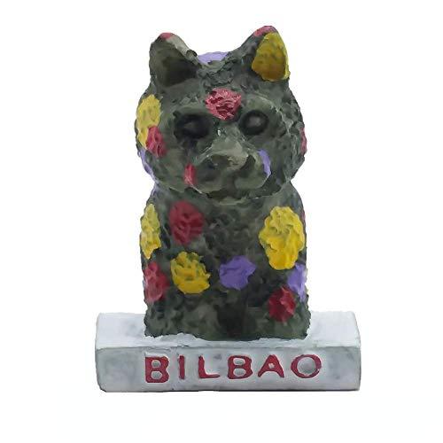 Bilbao España 3D imán de nevera de viaje recuerdo colección de regalo para el hogar y la cocina decoración magnética etiqueta engomada bilbao refrigerador imán