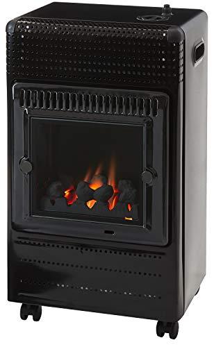 Favex EKTOR Fire gasverwarming, zwart, 42 x 40 x 72 cm