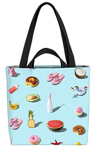 VOID Einhorn Melone Ente Tasche 33x33x14cm,15l Einkaufs-Beutel Shopper Einkaufs-Tasche Bag