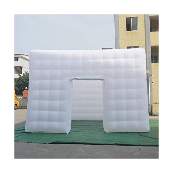SAYOK Portable Inflatable Air Cube Tent Inflatable Tent House for Event Party Show Business/Private Use(White,5x5x3.5m…