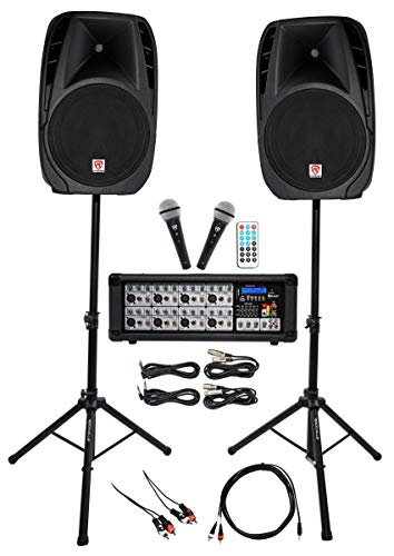 Rockville Dual 15' Android/iphone/ipad/Laptop/TV Youtube Karaoke Machine/System