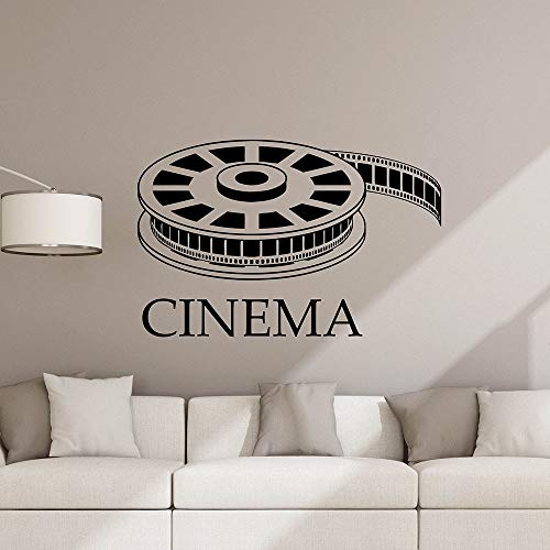 Calcomanía de pared de cine, tienda de videos de películas, tira de película, teatro, sala de juegos, Interior, arte decorativo, puerta, ventanas, vinilo, papel tapiz