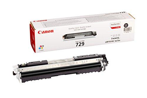 Canon cartucho 729 de tóner original negro para impresoras láser i-SENSYS LBP7010C, LBP7018C