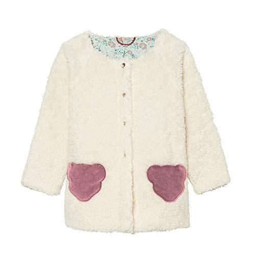 Steiff Mädchen kuschelige Teddyplüsch Jacke Cloud Dancer (weiß) (116)