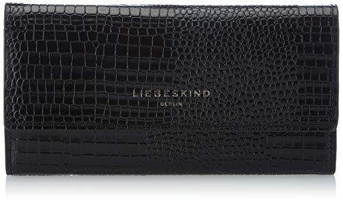 Liebeskind Berlin Damen Meryl Talia Reisezubehör- Brieftasche, Black, Large