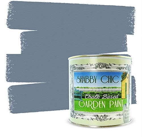 Shabby Chic Garden Paint: 8.5oz - Rainy Day - Chalk Based Furniture Paint for Outdoor and Exterior, No Primer Required