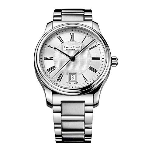 Louis Erard Reloj analógico automático para hombre Heritage Date con pulsera de acero inoxidable 67278AA21.BMA05