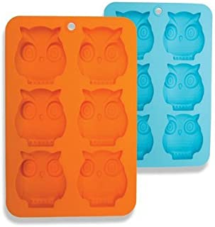 DCI Silicone Soap Molds 6-Cavity Owl Shaped Molds Soap Bars Ice Cube Tray Candy Baking Muffin Cupcake Cookie Bread Pan Nonstick Food Grade Silicone 2 Pack