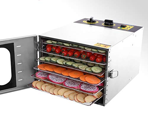 Buy WsHry Stainless Steel 6 Layers Food Dehydrator, 30~90°C Temperature Setting, Max 24h, Fruit Dry...