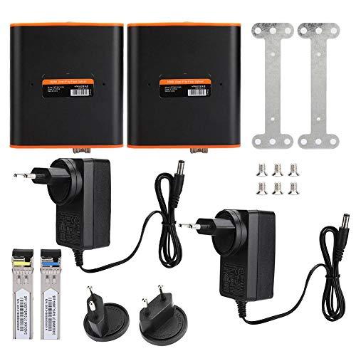 Garsent HDMI Network Extender, HDMI Extender Fibre Optic Wireless Video Transmitter Receiver voor HDTV, DVD-speler, PS3, PS4, Laptop enz., EU