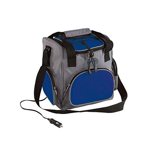 Domoclip Elettrico borsa termica con 12Volt connettore del Picnic Zaino per Portatili (frigorifero box Borsa termica 16litri, elettrico, Grigio/Blu, Picnic della)