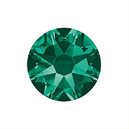 2088 8 Great 8 Small DIY Rhinestone Non Hotfix Crystal Stick Em Volta Apartment Nails Rhinestone para decoración de uñas, Esmeralda, SS16 1440pcs