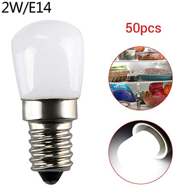 220V 2W E14 LED Kühlschrank Gefrierschrank Licht Gert Lampe Schraube Birne wei 50pc