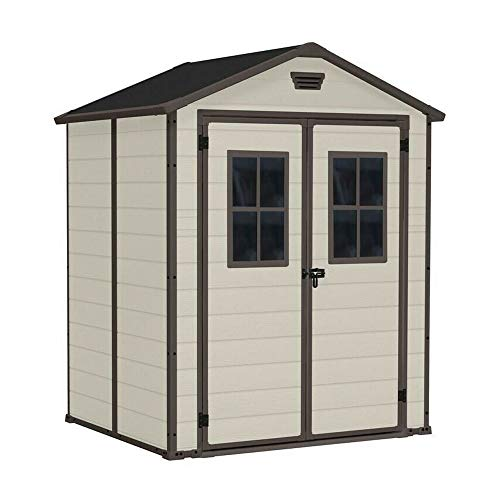 Keter Resin house, Manor 6x5 DD with windows, gray color Beige -