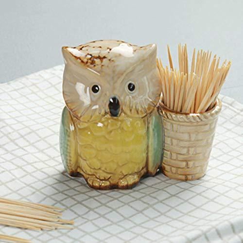 XATAKJJ Caja de cerámica con palillo de dientes de personalidad, transparente, creativo, de escritorio, de almacenamiento, decoración para el hogar, regalos