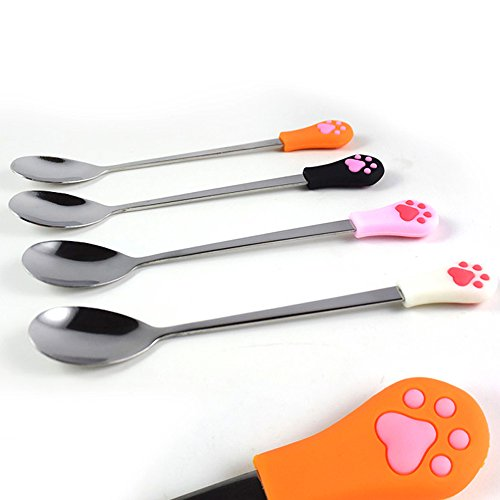 Great Features Of Coolrunner 4 Pack Can Food Spoon, Dog Cat Stainless Steel Food Spoon