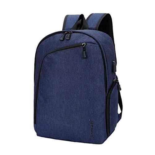 Laptop Backpack USB Charging Backbag Travel Daypacks Men School Bookbag Leisure Backpack Anti Theft Blue C
