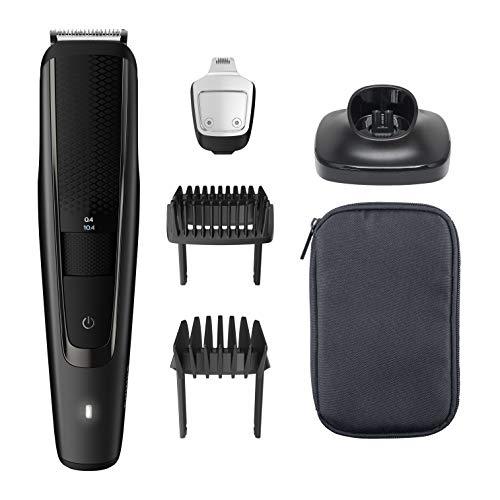 Philips Barbero Serie 5000 BT5515 15 - Recortadora de barba con 40 posiciones de longitud, resistente al agua y cuchillas metálicas autoafilables