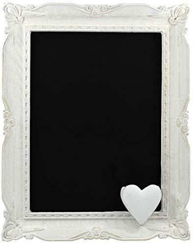 My-goodbuy24 Holz-Kreide-Tafel - Kreidetafel - Memoboard - Wandtafel - Antik - weiß - Werbetafel - Shabby chic - 35 x 28 x 3 cm