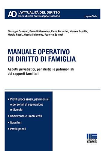 Manuale operativo di diritto di famiglia