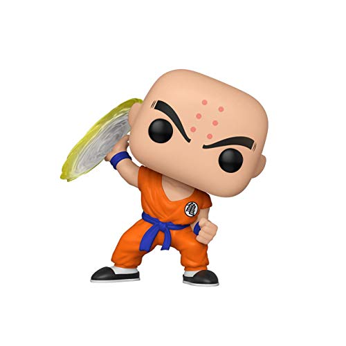 Funko- Pop Animation: Dragon Ball Z-Krillin w/Destructo Disc Collectible Toy, Multicolor (44263)
