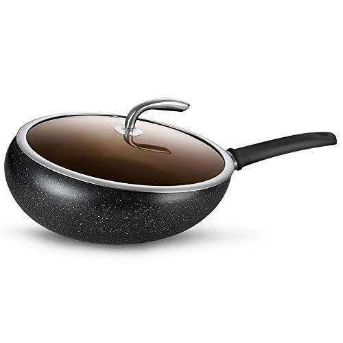 MxZas Duurzame 30cm Geen dampen Nonstick Koekenpan, Voor alle soorten kookplaat: Inclusief inductie Saute Pan