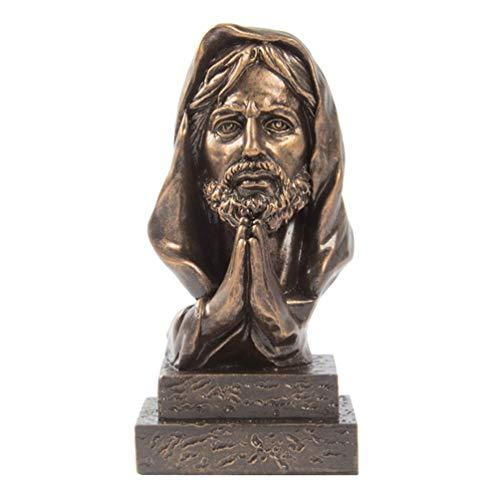 VORCOOL Jesus Christus Statue Figur Harz Sohn Gottes Skulptur Christliche Religion Figur Jesus Modell Ornament Geschenk für Home Office Kunst Handwerk Feng Shui Dekoration