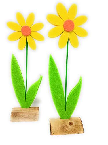 Magerite Aufsteller. Höhe 27 cm, im 2 er Set. Zur Frühlings Deko, Weltfrauentag, Ostern, Ostergeschenk, Muttertag als Geschenk oder Mitbringsel