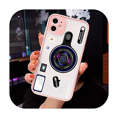 Cámara Moda Arte Patrón De Lujo Teléfono Casos Shell Mate Transparente Para iPhone 7 8 11 12 Plus Mini x xs xr pro max cover-a2-iPhone7or 8