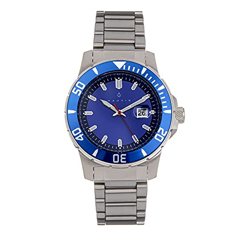 Nautis Admiralty Pro 200 Reloj de pulsera con fecha, Silver/Silver/Blue/White SKU: GL2008-E,